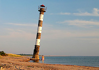 Kiipsaare Lighthouse by Sea in Vilsandi National Park,  Saaremaa, Estonia