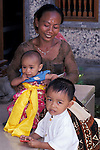 Balinese Woman with Children