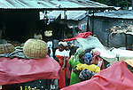Shopping in the market,Images of the capital,Port au Prince, Haiti 1975