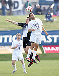 5 November 2006: Duke's Michael Videra (10) and Wake Forest's Sam Cronin (2) battle for the header. Duke defeated Wake Forest 1-0 in overtime at the Maryland Soccerplex in Germantown, Maryland in the Atlantic Coast Conference college soccer tournament final.