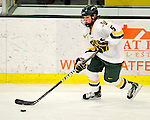 12 February 2011: University of Vermont Catamount forward Kellie Dineen, a Freshman from Faribault, MN, in action against the University of New Hampshire Wildcats at Gutterson Fieldhouse in Burlington, Vermont. The Lady Wildcats shut out the Lady Cats 2-0 to split their Hockey East twin game weekend series. Mandatory Credit: Ed Wolfstein Photo
