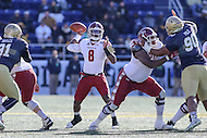 Annapolis, MD - December 3, 2016: Temple Owls quarterback Phillip Walker (8) throws a pass during game between Temple and Navy at  Navy-Marine Corps Memorial Stadium in Annapolis, MD.   (Photo by Elliott Brown/Media Images International)