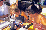 Weezie & Rachel Looking At Sticky Traps