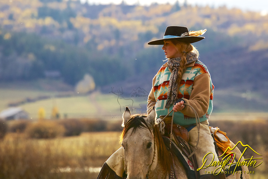 Working cowgirl, Cattle Drive, Star Valley, Wyoming. My photos are not to be used for anti public land ranching interests. The cowboys of the west are under assault because many don't like to see their cows on public land. I have written a couple of articles articulating the problem.