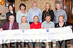 Organisers of the very successful &quot; Strictly Come Dancing&quot; which was held recently in the Devon Hotel Templeglantine to raise funds for  Abbeyfeale  Town Park, Abbeyfeale Tidy Towns and The Christmas Lights.<br /> Cheques valued &euro;8271  were presented to the  3 organisations on Sunday night in the Ploughman Bar.<br /> Seated L-R: John O' Sullivan  (Town Park), Geraldine O' Connor (Town Park) , Denny Collins (Christmas Lights), Patrick Quirke ( Christmas Lights), Anjela O' Rourke ( Tidy Towns).<br /> Back: Marie McElligott ( Tidy Towns) Bette Kelly, Jim O' Shea &amp; Esther McElligott organisers of the  &quot; Strictly Come Dancing&quot; fundraiser and Kevin Kennelly ( Tidy Towns).<br /> Missing from photo are Joan Collins &amp; Bridget Lee who were also organisers of &quot; Strictly Come Dancing)