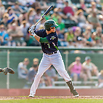 12 July 2015: Vermont Lake Monsters outfielder Skye Bolt in action against the West Virginia Black Bears at Centennial Field in Burlington, Vermont. The Lake Monsters came back from a 4-0 deficit to defeat the Black Bears 5-4 in NY Penn League action. Mandatory Credit: Ed Wolfstein Photo *** RAW Image File Available ****