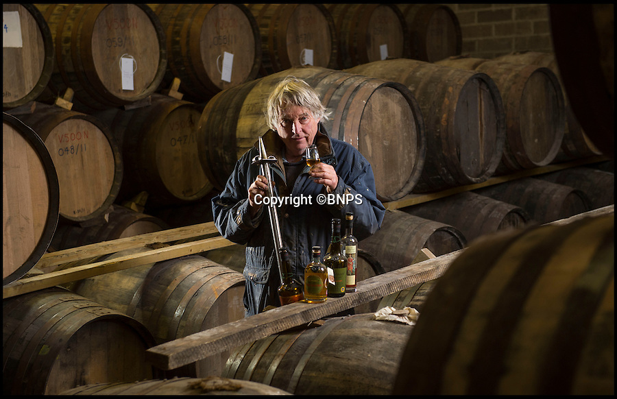 BNPS.co.uk (01202 558833)<br /> Pic: PhilYeomans/BNPS<br /> <br /> Julian in his bonded store of maturing cider brandy in huge Spanish sherry casks.<br /> <br /> Britain celebrates its biggest cider crop in twenty years<br /> <br /> Top cider maker Julian Temperley is heralding his biggest crop of apples in 20 years thanks to the dry spring and wet summer - but it's not all good news because it means next year's harvest will be poor.<br /> <br /> Mr Temperley says his 170 acres of Somerset orchards will yield a staggering 2,000 tonnes of apples this year, 500 tonnes more than expected.<br /> <br /> The mammoth haul is so huge that it will take a team of 15 staff a back-breaking three months to press all the apples - and it will then leave them with almost a million litres of cider.<br /> <br /> But because apple trees work on a biannual cycle - whereby a good year is followed by a bad one - the forecast for next year's crop is poor.