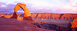 Delicate Arch at sunset, Arches National Park, Utah