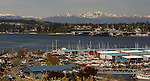 Downtown Port Orchard, Marina, Naval Station Kitsap, shipyards with Olympic Mountains in Port Orchard, Washington.  © 2013. Jim Bryant Photo. All Rights Reserved.