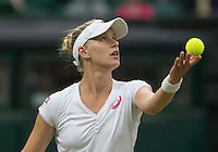 ALISON RISKE (USA)<br /> <br /> The Championships Wimbledon 2014 - The All England Lawn Tennis Club -  London - UK -  ATP - ITF - WTA-2014  - Grand Slam - Great Britain -  28th June 2014. <br /> <br /> &copy; AMN IMAGES