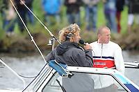SKUTSJESILEN: GROU: SKS skûtsjesilen, Friese Sporten, 30-07-2011, Fryslân, SKS speaker / walcommentator Gjalt de Jong, ©foto Martin de Jong..