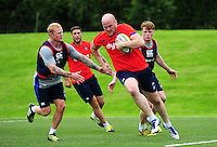 Matt Garvey of Bath Rugby in action. Bath Rugby pre-season skills training on June 21, 2016 at Farleigh House in Bath, England. Photo by: Patrick Khachfe / Onside Images
