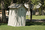 Outhouse, collections at the Laws Museum, Inyo County, Calif.