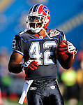 3 September 2009:  Buffalo Bills' running back Bruce Hall warms up prior to a pre-season game against the Detroit Lions at Ralph Wilson Stadium in Orchard Park, New York. The Lions defeated the Bills 17-6...Mandatory Photo Credit: Ed Wolfstein Photo