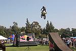 motorcycle jumping near Rose Bowl