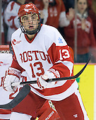 Garrett Noonan (BU - 13) - The Boston University Terriers defeated the visiting Providence College Friars 4-2 (EN) on Saturday, December 13, 2012, at Agganis Arena in Boston, Massachusetts.