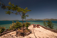 Chaise Lounges at Vonu Point, Turtle Island, Yasawa Islands, Fiji