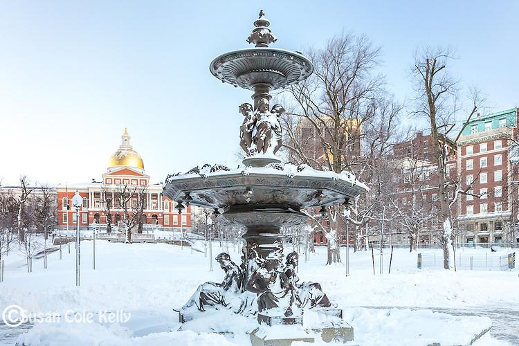 The Brewer Fountain on Boston Common, Boston, Massachusetts, USA