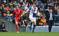 Blackburn Rovers' Connor Mahoney and Bristol City's Joe Bryan<br /> <br /> Photographer Stephen White/CameraSport<br /> <br /> The EFL Sky Bet Championship - Blackburn Rovers v Bristol City - Monday 17th April 2017 - Ewood Park - Blackburn<br /> <br /> World Copyright &copy; 2017 CameraSport. All rights reserved. 43 Linden Ave. Countesthorpe. Leicester. England. LE8 5PG - Tel: +44 (0) 116 277 4147 - admin@camerasport.com - www.camerasport.com