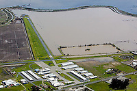 aerial photograph Shellville airport,flooding Sonoma County, California