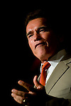California Governor Arnold Schwarzenegger speaks at a convention of the California Association of School Counselors in Sacramento, CA on Monday, October 9, 2006. The Governor's budget includes $200 million to increase school counselors at middle and high schools, bringing the number of counselors serving students to national standards.