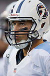 Tennessee Titans' quarterback Matt Hasselbeck watches the Seattle Seahawks offense in a pre-season game at CenturyLink Field in Seattle, Washington on August 11, 2012. ©2012. Jim Bryant Photo. All Rights Reserved....