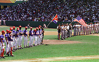 On March 28, 1999 the Baltimore Orioles of Major League Baseball defeated the Cuban national baseball team at the Estadio Latinoamericano in Havana, Cuba in the first oftwo exhibition games played between the two teams. This game marked the first time that a MLB team played in Cuba since 1959.