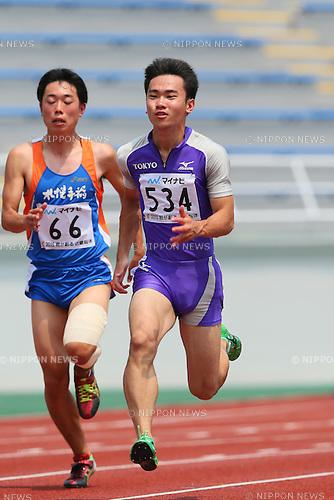 Kenta Oshima, JULY 30, 2015 - Athletics : 2015 All-Japan Inter High School Championships, Men's 100m at Kimiidera Athletic Stadium, Wakayama, Japan. (Photo by YUTAKA/AFLO SPORT)