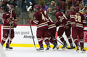 Casey Fitzgerald (BC - 5), Michael Kim (BC - 4), Christopher Brown (BC - 10), David Cotton (BC - 17), Ron Greco (BC - 28) - The Harvard University Crimson defeated the visiting Boston College Eagles 5-2 on Friday, November 18, 2016, at Bright-Landry Hockey Center in Boston, Massachusetts.{headline] - The Harvard University Crimson defeated the visiting Boston College Eagles 5-2 on Friday, November 18, 2016, at Bright-Landry Hockey Center in Boston, Massachusetts.