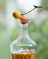 Crab apples are the perfect size to replace a decanter stopper