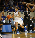 UK guard Bria Goss brings the ball up court during the first half of the UK Women's basketball game against Southern Miss on 11/19/11 in Lexington, KY. Photo by Quianna Lige | Staff