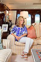 Denise Rich on board Lady Joy
