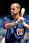 22 April 2010: Washington Nationals' second baseman Adam Kennedy awaits his turn in the batting cage prior to a game against the Colorado Rockies at Nationals Park in Washington, DC. The Nationals were shut out by the Rockies 2-0 closing out their series with a 2-2 game split. Mandatory Credit: Ed Wolfstein Photo