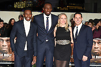 LONDON, UK. November 28, 2016: Nugent Walker, Usain Bolt &amp; Ricky Simms at the &quot;I Am Bolt&quot; World Premiere at the Odeon Leicester Square, London.<br /> Picture: Steve Vas/Featureflash/SilverHub 0208 004 5359/ 07711 972644 Editors@silverhubmedia.com