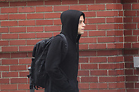 NEW YORK, NY - MAY 11: Rami Malek on set of Mr. Robot on May 11, 2017 in New York City. Credit: DC/Media Punch