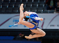 September 10, 2015 - Stuttgart, Germany - SALOME PAZHAVA of Georgia performs during AA qualifications at 2015 World Championships.