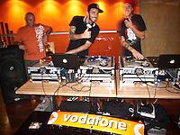 DJ's do their stuff at DANNY WILLS (AUS) retirement  from the ASP World Tour celebrated last night, Monday 2 March 2009 at the La Monde restaurant at Kirra Beach, Kirra, Queensland, Australia ,   Photo: joliphotos.com