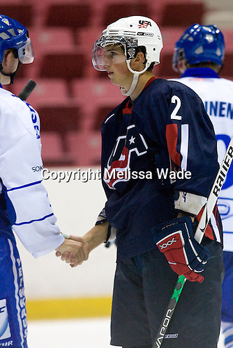 Mike Ratchuk (US/Michigan State - Buffalo, NY) - US Team Blue defeated Team Finland 5-4 in the early game at the 1980 Rink in Lake Placid, New York, during the Summer Hockey Challenge on Tuesday, August 7, 2007.