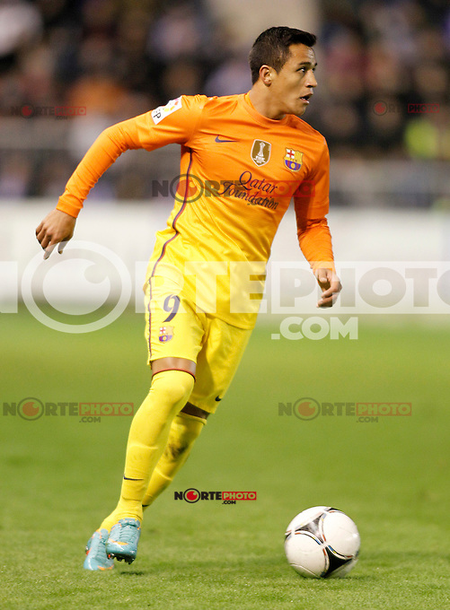 FC Barcelona's Alexis Sanchez during Spanish King's Cup match.October 30,2012. (ALTERPHOTOS/Acero) /NortePhoto