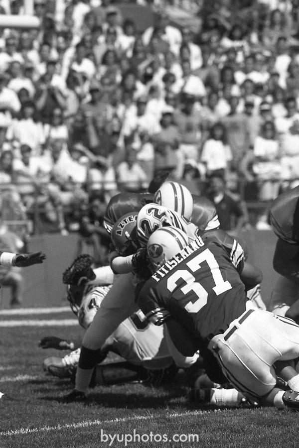 1305 L 31<br /> <br /> FTB 1305 A-T<br /> <br /> September 22, 1990<br /> <br /> Football - BYU vs. San Diego St.<br /> <br /> Mark Philbrick A-K <br /> Rick Gleason L-T<br /> <br /> BYU Photo 2017<br /> All Rights Reserved<br /> photo@byu.edu <br /> (801) 422-7322