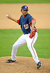 14 March 2008: Washington Nationals' pitcher Luis Ayala in action during a Spring Training game against the Cleveland Indians at Space Coast Stadium, in Viera, Florida. The Nationals defeated the visiting Indians 8-4 as both teams fielded split squads home and away...Mandatory Photo Credit: Ed Wolfstein Photo