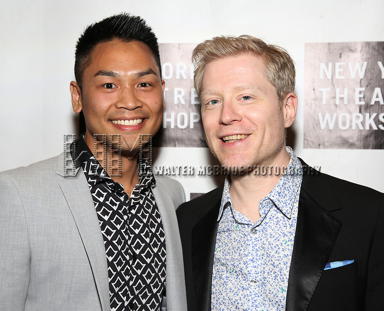 Rodney To and Anthony Rapp attends New York Theatre Workshop's 2017 Spring Gala at the Edison Ballroom on May 15, 2017 in New York City.