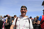 Photographer Oscar De Waele at sign on before Stage 1 of the 100th edition of the Giro d'Italia 2017, running 206km from Alghero to Olbia, Sardinia, Italy. 4th May 2017.<br /> Picture: Eoin Clarke | Cyclefile<br /> <br /> <br /> All photos usage must carry mandatory copyright credit (&copy; Cyclefile | Eoin Clarke)