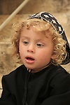 Israel, Jerusalem Old City, a Syrian Orthodox boy at St. Mark's Church