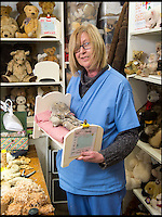 BNPS.co.uk (01202 558833)<br /> Pic: PhilYeomans/BNPS<br /> <br /> 'Nurse' Lesley Taylor with one of their patients.<br /> <br /> Broken bears and deteriorating dolls from all over the world are being brought back to life by a UK team of dedicated doctors and nurses at one of the last remaining toy hospitals.<br /> <br /> The team at Alice's Bear Shop, a teddy bear and doll hospital in Lyme Regis, Dorset, perform all kinds of 'surgery' from simple restringing and re-stuffing to head re-attachments and complete skin grafts.<br /> <br /> Rikey Austin, 49, opened the hospital in January 2000 but also ran a shop and only repaired one or two toys a month.<br /> <br /> Now she has a four-month waiting list for patients and has had to close the shop to focus on the hospital side of the business.