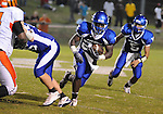 Water Valley's Jeoffrey Gordon (29) runs vs. Calhoun City in Water Valley, Miss. on Friday, September 2 2011. Calhoun City won 16-14..