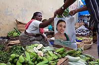 January 26th 2008 _Trivandrum, India _A merchants in the Chala Bazar, which is located in the Karala state capital city of Trivandrum.  Photograph by Daniel J. Groshong/Tayo Photo Group