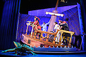 London, UK. 08.12.2015. Mischief Theatre Company presents PETER PAN GOES WRONG, at the Apollo Theatre. Co-written by Henry Lewis, Jonathan Sayer & Henry Shields, directed by Adam Meggido. Picture shows:  Dave Hearn (Crocodile),Henry Shields (Captain Hook),  Jonathan Sayer (John Darling), Ellie Morris (Tootles), Charlie Russell (Wendy Darling), Henry Lewis (Starkey), Tom Edden (Cecco the Pirate). Photograph © Jane Hobson.