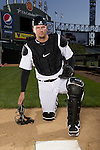 CHICAGO- White Sox catcher A.J. Pierzynski poses for a portrait at U.S. Cellular Field in Chicago, IL.