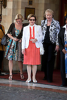 King Harald, and Queen Sonja of Norway, State visit to South Africa..Queen Sonja tales a walk from the Sheraton Hotel in Pretoria, shortly after arriving in South Africa
